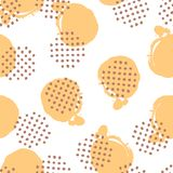 Seamless polka dot paint brush pattern royalty free illustration