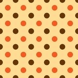 Seamless Polka dot background. Bright polka dot texture. Vector Royalty Free Stock Photos