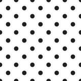 Seamless polka dot pattern background. Black dots on white background. Vector illustration on white background royalty free illustration