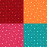 Seamless Polka dot pattern background. Vector illustration Royalty Free Stock Photo