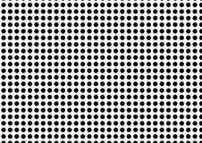 Seamless polka dot pattern of black dots on white background. stock photos