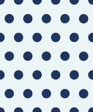 Seamless polka dot pattern. The blue circles on a white background. Vector illustration. stock illustration
