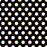 Seamless polka dot pattern with blurred circles Royalty Free Stock Images