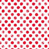 Seamless polka dot pattern Stock Images