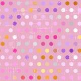 Seamless polka dot pattern on grunge background Stock Photo