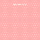 Seamless Polka dot pattern on pink background, vector Royalty Free Stock Photos