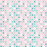 Seamless polka dot pattern with rings. Colorful Easter texture royalty free illustration