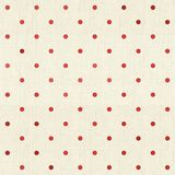 Seamless polka dot pattern on textured fabric Royalty Free Stock Images