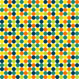 Seamless polka dot pattern in vivid colors Royalty Free Stock Photography