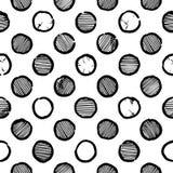 Seamless polka dot pattern Stock Photos