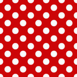 Seamless polka dot pattern Stock Images