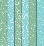Seamless polka dot patterns. Royalty Free Stock Photography