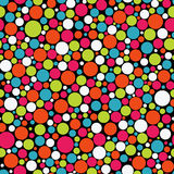 Seamless polka dot vector background Royalty Free Stock Photo