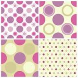 Seamless polka dots Stock Images