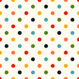 Seamless polka dots background Stock Image