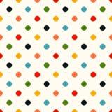 Seamless polka dots background. Seamless colorful scribble polka dots background Stock Illustration