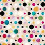 Seamless polka dots background Royalty Free Stock Photography