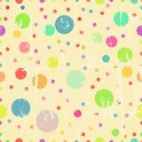 Seamless polka dots. Background, vector royalty free illustration