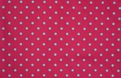 Seamless polka dots fabric Stock Photography