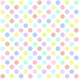 Seamless polka dots pattern background Royalty Free Stock Images