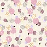 Seamless polka dots Stock Image