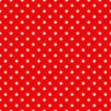 Seamless polka dots pattern in red Stock Photo