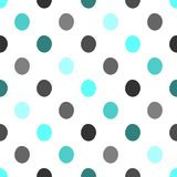 Seamless polka dots pattern vector background vintage retro abstract design colorful art with circle shapes. Image Stock Images