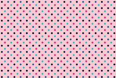 Seamless polka dots pink background. Illustration design. Seamless polka dots pink background illustration design retro vintage new circle colors graphic royalty free stock photos