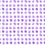 Seamless polka dots.  Watercolor print. Royalty Free Stock Photos
