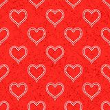 Seamless with polka dotted hearts Stock Image
