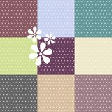 Seamless polka dotted patterns Royalty Free Stock Photography