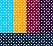 Seamless Polka patterns color set. Vector illustration of seamless polka dots patterns in various colors Royalty Free Stock Image