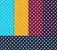 Seamless Polka patterns color set Royalty Free Stock Image