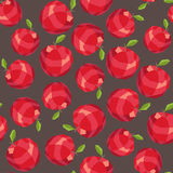 Seamless polygon red apple pattern Royalty Free Stock Images