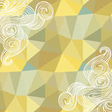 Seamless polygon triangle  pattern Stock Image