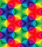 Seamless Polygonal Colorful Pattern. Geometric Abstract Background. Suitable for textile, fabric and packaging Stock Photo