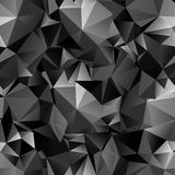 Seamless polygonal dark background Stock Images