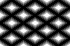 Seamless Polygonal Monochrome Diamond Pattern. Geometric Abstract Background. Suitable for textile, fabric, packaging and web desi Stock Photo