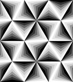 Seamless Polygonal Monochrome Pattern. Geometric Abstract Background. Suitable for textile, fabric and packaging Royalty Free Stock Photo