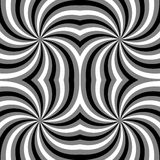 Seamless Polygonal Monochrome Spiral Pattern. Geometric Abstract Background. Suitable for textile, fabric and packaging Stock Image