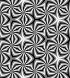 Seamless Polygonal Monochrome Spiral Pattern. Geometric Abstract Background Stock Image