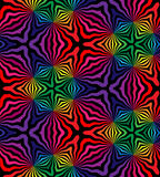 Seamless Polygonal  Pattern. Rainbow Geometric Royalty Free Stock Images