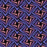 Seamless Polygonal Violet and Black Pattern. Geometric Abstract Background Stock Image