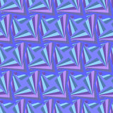 Seamless Polygonal Violet Pattern. Geometric Abstract Background. Royalty Free Stock Photo