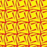 Seamless Polygonal Yellow and Red Pattern. Geometric Abstract Background Royalty Free Stock Photos