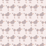 Seamless poodle dog pattern. Seamless poodle dog cartoon pattern Vector Illustration