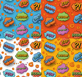 Seamless Popart Pattern Stock Photo
