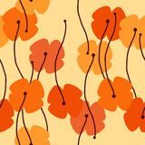 Seamless poppy background Royalty Free Stock Images