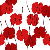 Seamless poppy background Stock Photo