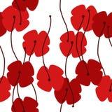 Seamless poppy background royalty free illustration